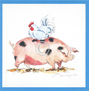 Pig Print - Farmyard Friends