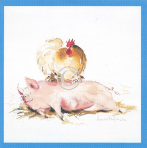 Pig Print - Chicken & Sleepy Pig