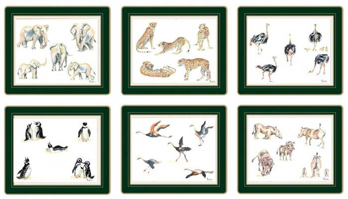 African Animals Tablemats and Coasters