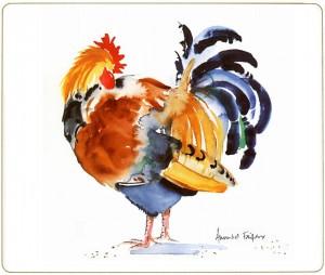 Chicken Placemat Preening