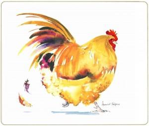 Melamine Placemat Strutting Chicken